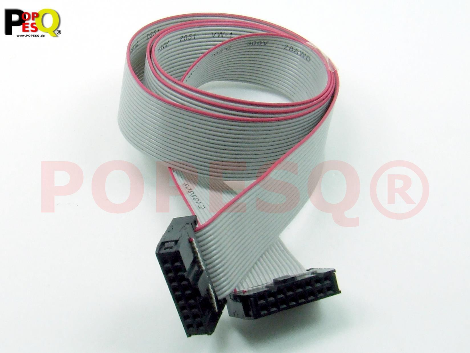 1 Stk x IDC Kabel 16 polig 50cm 2.54mm Verbinder Flachbandkabel #A1316