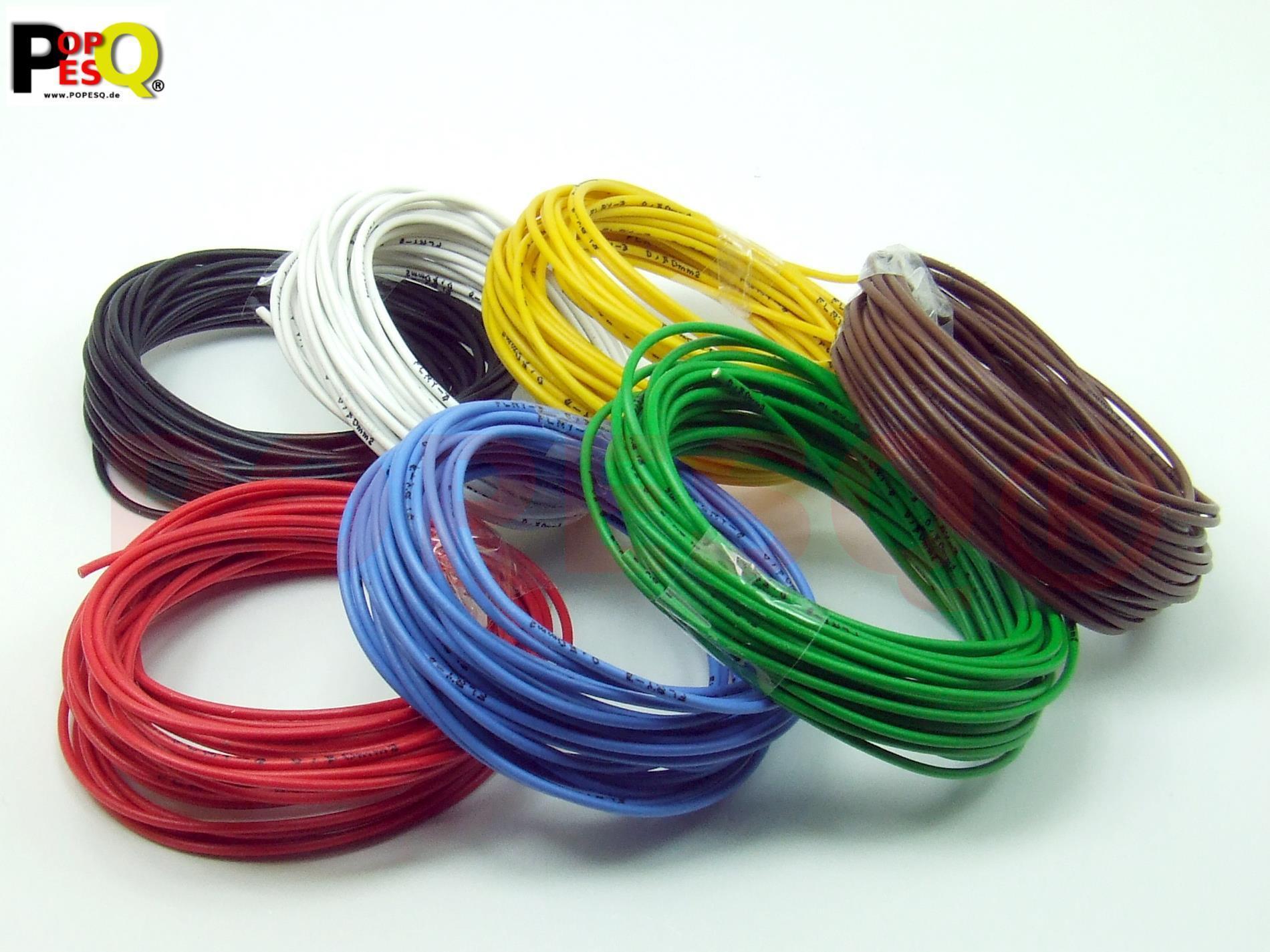 KIT Draht 1 polig 0.22mm² Litze PKW 9 Farben #A2299
