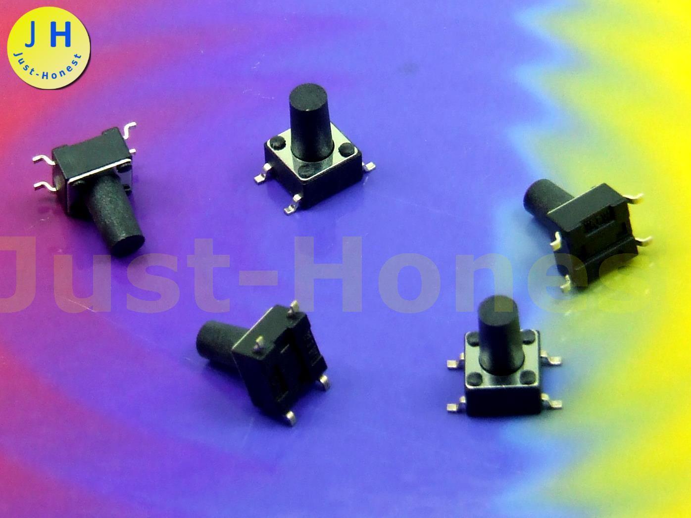 5 Stk 6mm x 6mm 7mm SMD Rundkopf #A2737 x Taster